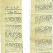 1966 inauguration eole club