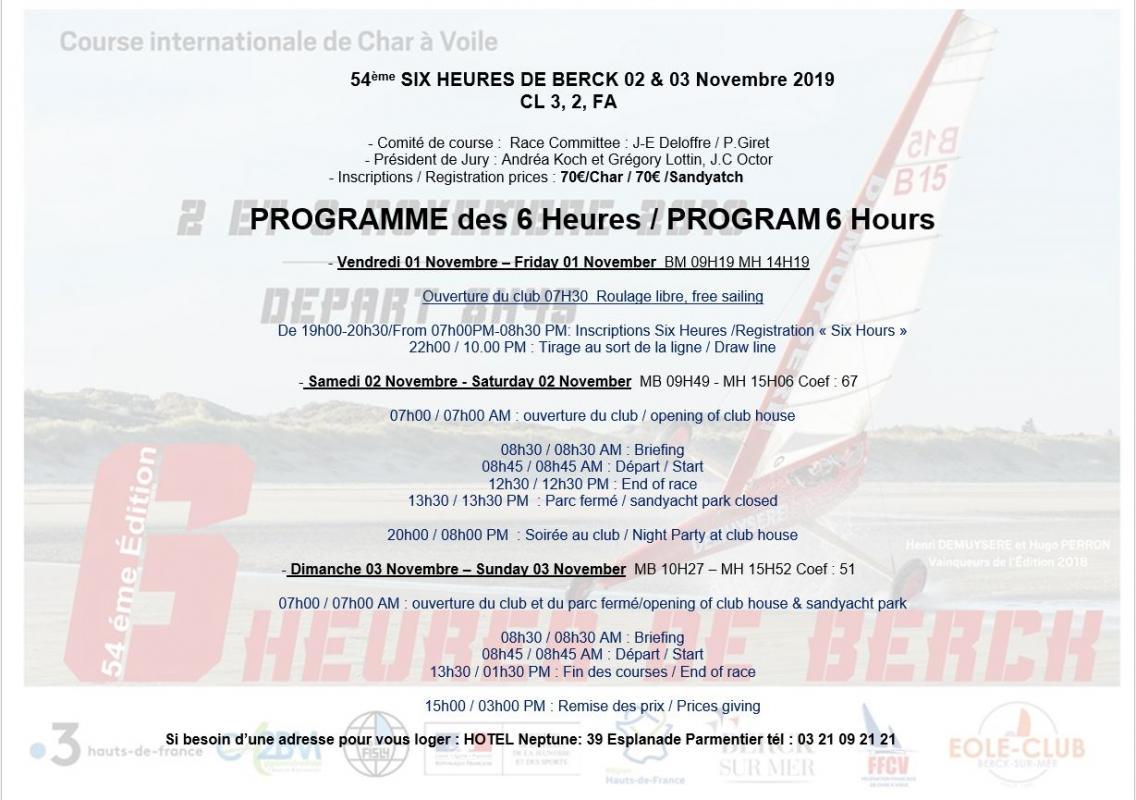 Programme 6heures 2019